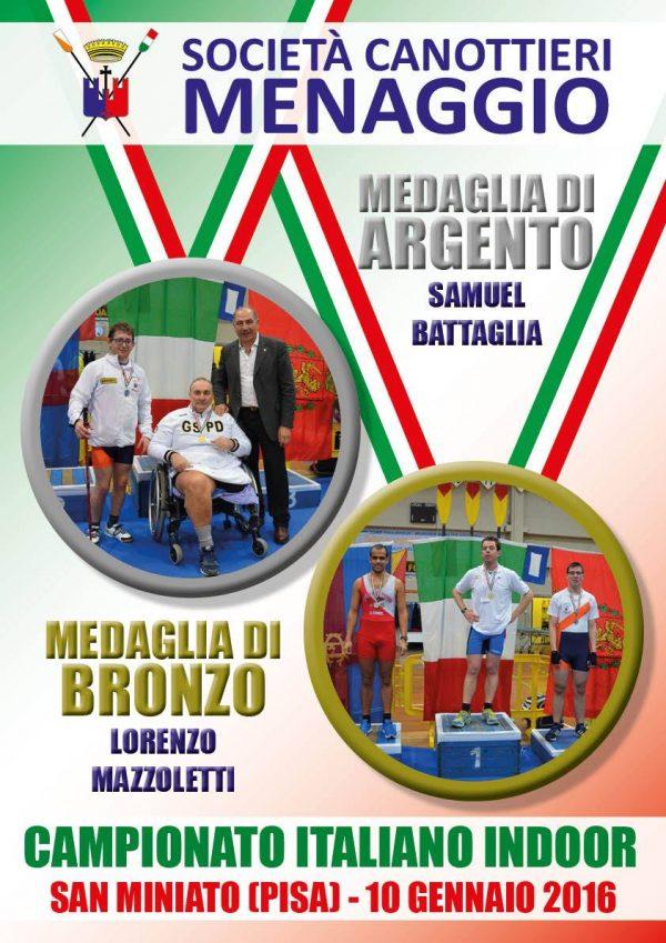 Livorno- Un argento e un bronzo ai Campionati Italiani Indoor